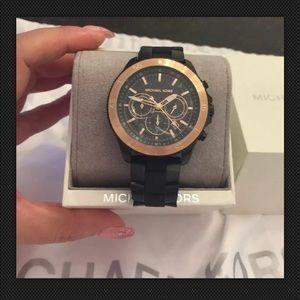 Michael Kors  Black Stainless Steel Men's Watch